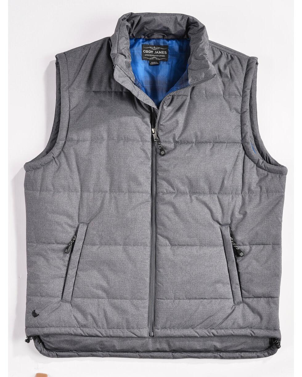 Cody James Men's Zip Puffer Vest, Grey, hi-res