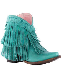 Junk Gypsy by Lane Women's Turquoise Spitfire Boots - Snip Toe , , hi-res