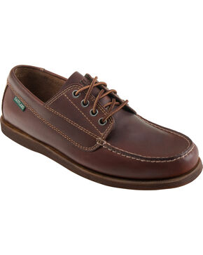 Eastland Men's Brown Falmouth Camp Mocs, Brown, hi-res