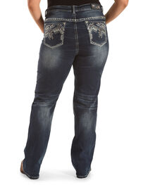Grace in LA Women's Embellished Pocket Straight Leg Jeans - Plus, , hi-res