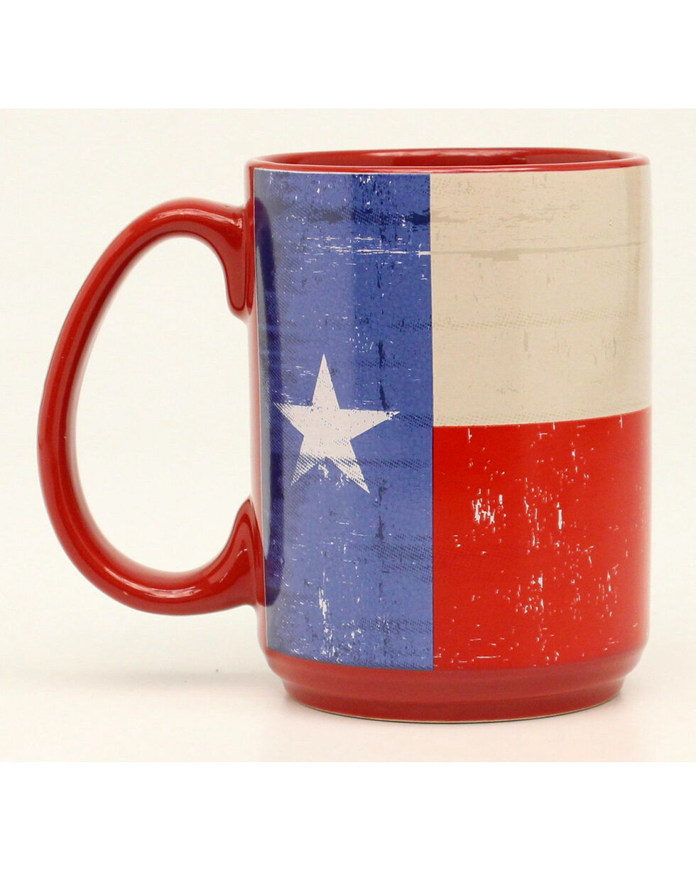 M&F Texas Flag Coffee Mug, Red, hi-res