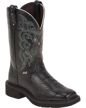 Justin Gypsy Women's Pearl Print Western Boots, Black, hi-res
