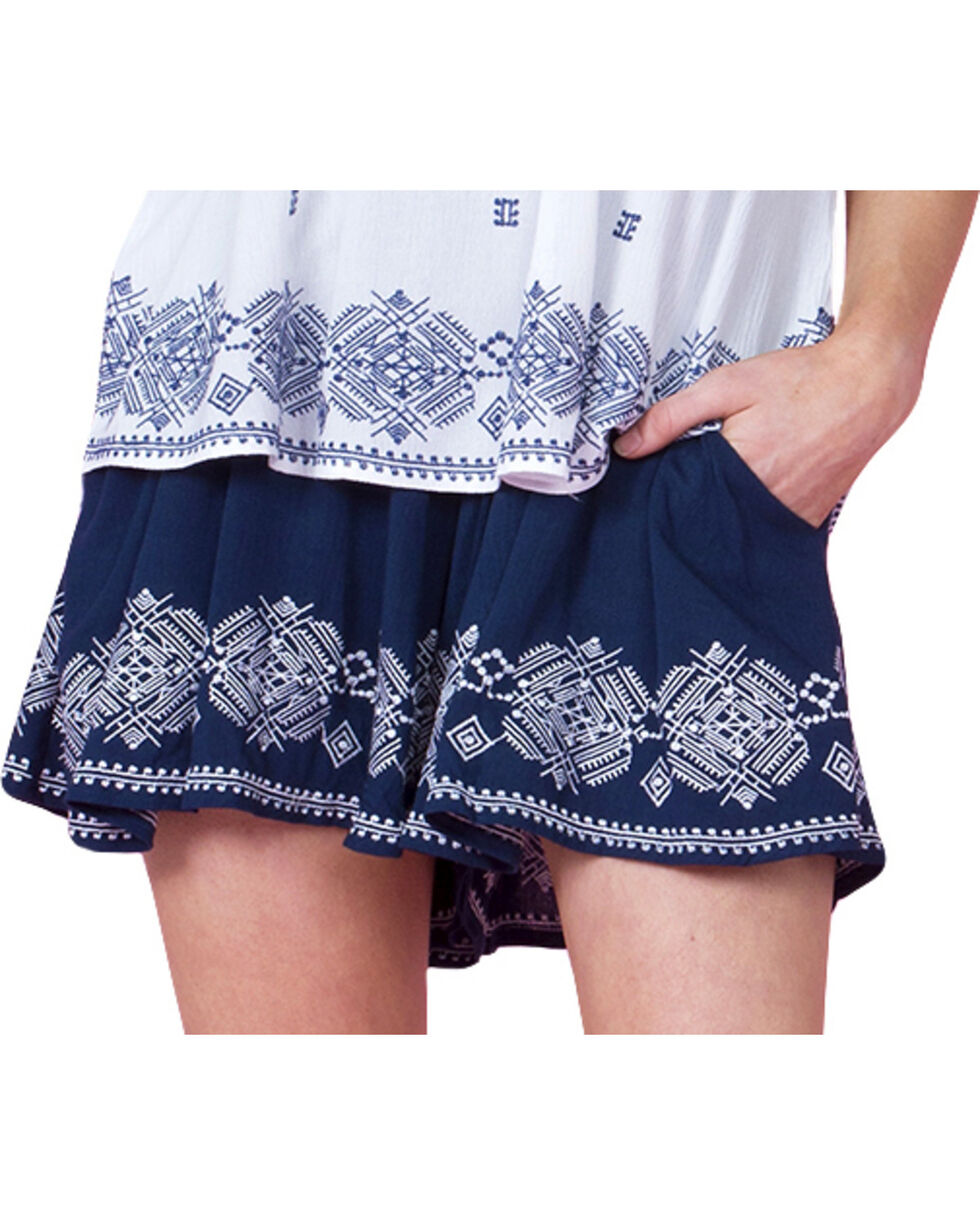 Miss Me Women's Bare It All Shorts, Navy, hi-res