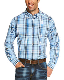 Ariat Men's Blue Oakridge Long Sleeve Shirt - Big and Tall , , hi-res