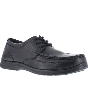Florsheim Men's Lace Up Dress Shoes - Steel Toe , Black, hi-res