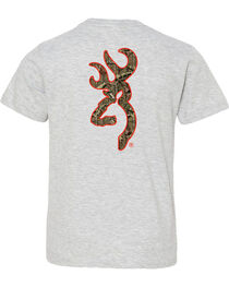 Browning Boys' Mossy Oak Country Buckmark Short Sleeve Tee, , hi-res