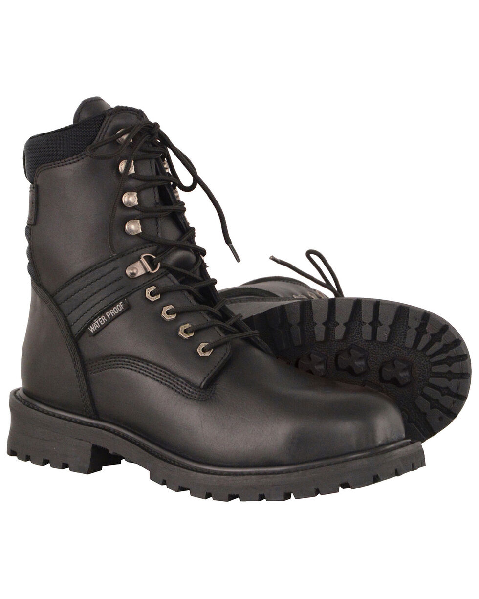 """Milwaukee Leather Men's 7"""" Waterproof Leather Boots - Round Toe, Black, hi-res"""