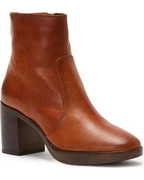 Frye Women's Dark Brown Joan Campus Short Boots - Round Toe, , hi-res