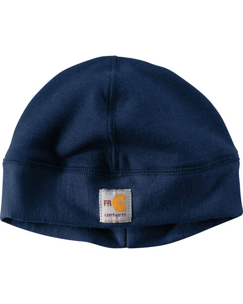 Carhartt Men's Navy Flame-Reistant Fleece Work Hat, Navy, hi-res