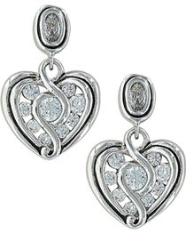 Montana Silversmiths Women's Twisted Up In Love Heart Earrings , , hi-res
