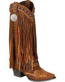 Lane Women's Double D Ranch Prescott Fringed Western Boots, , hi-res
