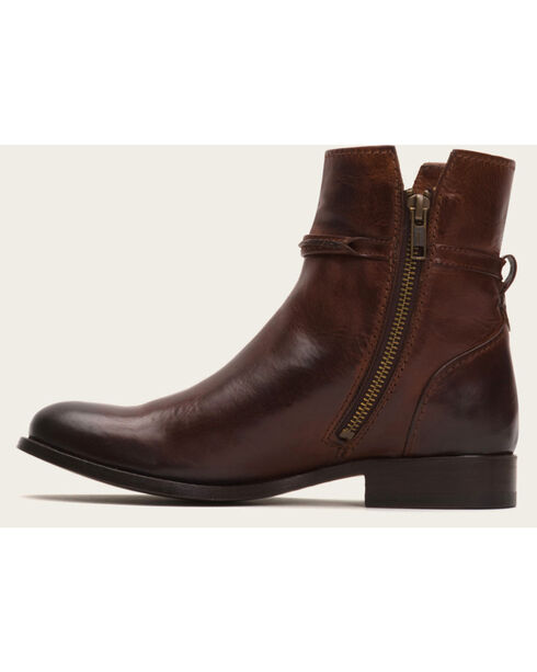 Frye Women's Brown Melissa Seam Short Boots - Round Toe , Brown, hi-res