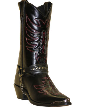 "Sage Boots by Abilene Men's 12"" Scorpion Western Boots, Black, hi-res"