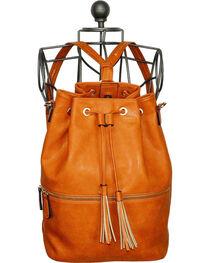 Wear N.E. Wear Brown Tassel Drawstring Backpack, , hi-res