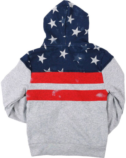 Cody James® Boys' Distressed American Flag Jacket, Grey, hi-res