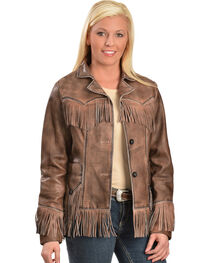 Scully Women's Fringe Lamb Jacket, , hi-res