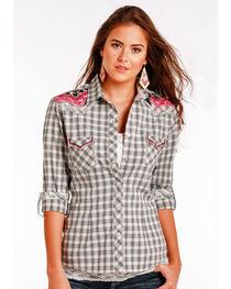 Panhandle Slim Women's White Two Pocket Snap Long Sleeve Shirt , , hi-res
