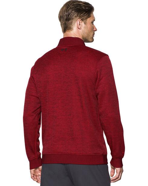 Under Armour Men's Red Storm Sweater Fleece 1/4 Zip Pullover , Red, hi-res