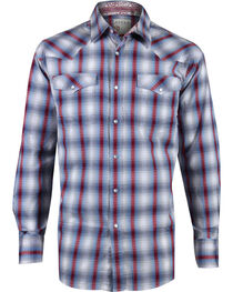 Roper Men's Plaid Long Sleeve Western Snap Shirt, , hi-res