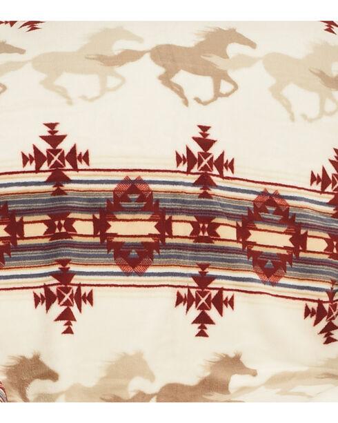 BB Ranch Aztec Running Horses Blanket, Multi, hi-res