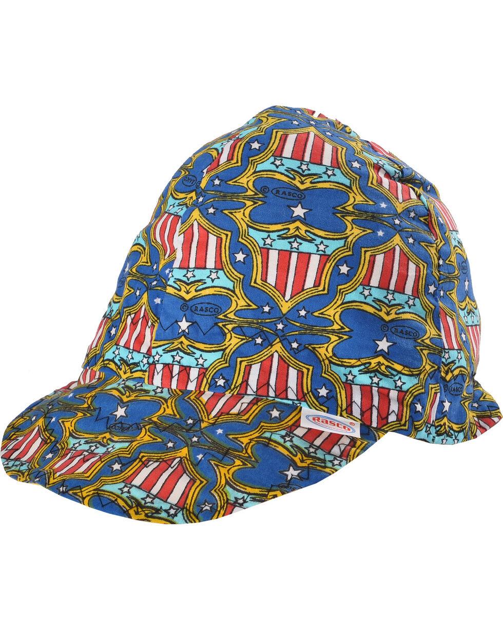 Rasco Men's Red, White, and Blue Non-FR Welding Cap , Red/white/blue, hi-res