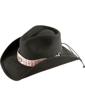 Bullhide Kiss Me Kate Cowgirl Hat, Black, hi-res