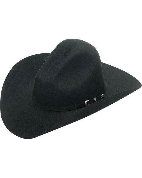 Twister Houston 2X Select Wool Cowboy Hat, Black, hi-res