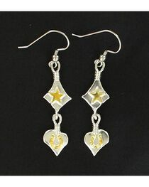 Lightning Ridge Star, Heart & Horseshoe Charm Earrings, , hi-res