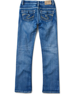 Silver Girl's Indigo Medium Wash Jeans - Boot Cut, Indigo, hi-res