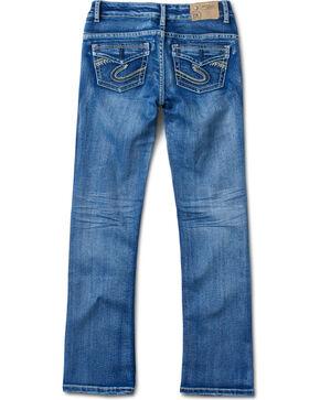 Silver Girl's Indigo Medium Wash Jeans - Boot Cut, Indigo, hi-res