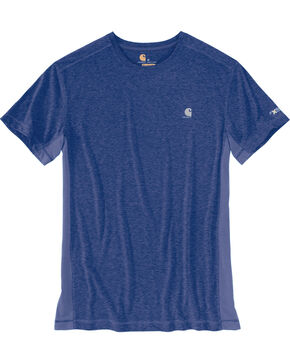 Carhartt Men's Blue Heather Force Extremes Short Sleeve T-Shirt, Blue, hi-res