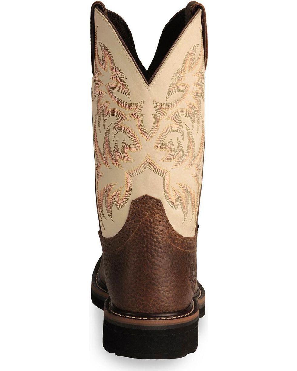 """Justin Men's Stampede 11"""" Western Work Boots, Copper, hi-res"""