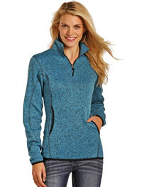 Powder River Outfitters Women's 1/4 Zip Pullover Sweater, , hi-res