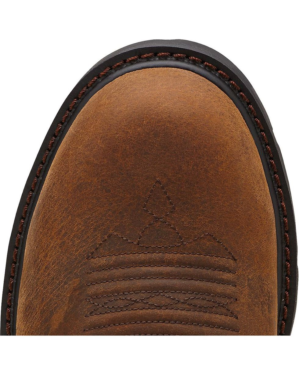 Ariat Men's Groundbreaker Pull-On ST Work Boots, Dark Brown, hi-res