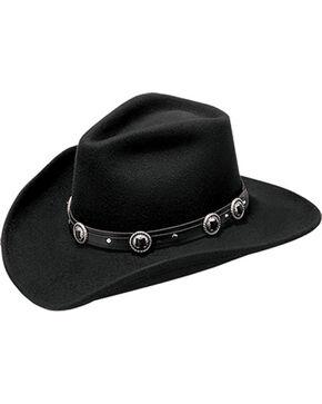 Master Hatters Men's Defiance Wool Felt Cowboy Hat, Black, hi-res