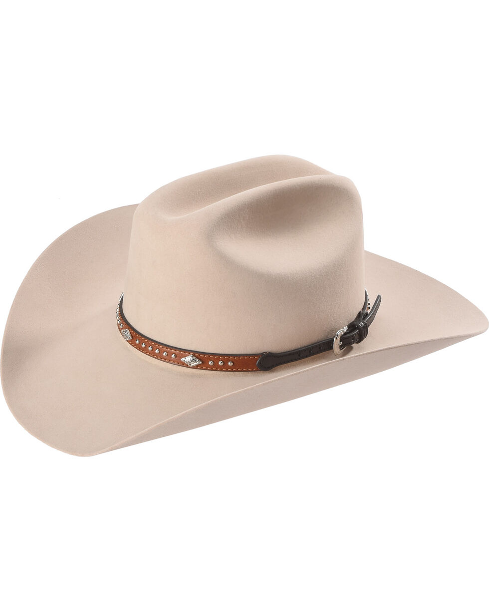 Cody James Silver Studs with Diamond Conchos Hat Band, Tan, hi-res