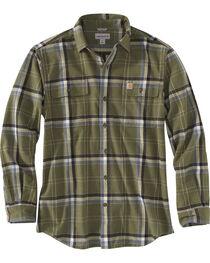 Carhartt Men's Moss Hubbard Plaid Flannel Shirt , , hi-res