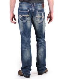 Realtree Men's Distressed Boot Cut Jeans, , hi-res