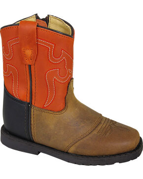 Smoky Mountain Toddler Boys' Autry Western Boots - Square Toe , Brown, hi-res