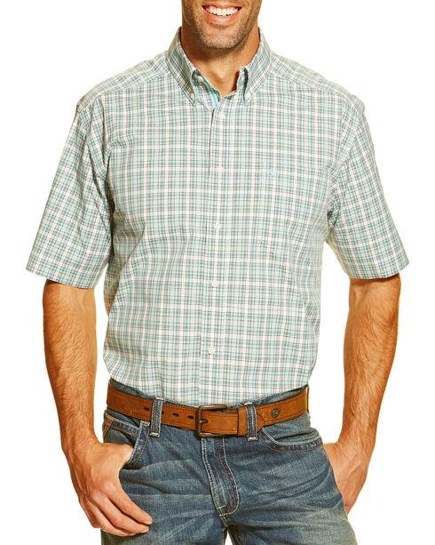 Ariat Men's Jayrus Short Sleeve Shirt, White, hi-res