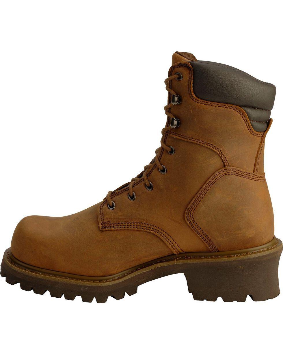 Chippewa Men's Steel Toe Logger Work Boots, Bark, hi-res