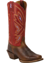 """Tony Lama Women's Embroidered 13"""" 3R Western Boots, Tan, hi-res"""
