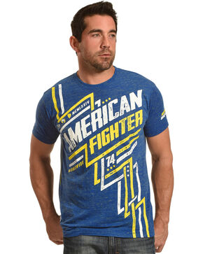 American Fighter by Affliction Men's Blue Lockwood Tee , Light Blue, hi-res