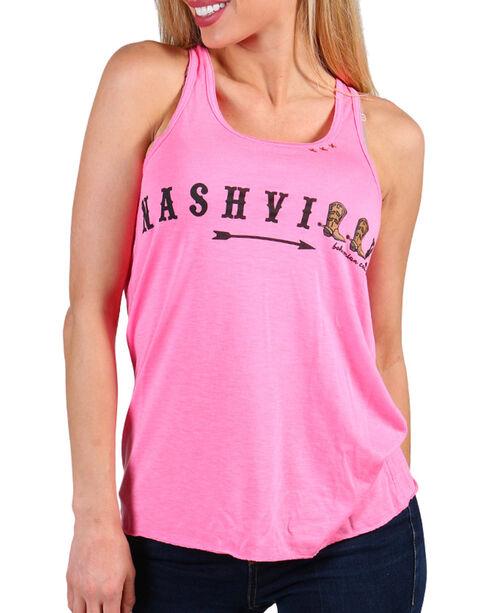 Bohemian Cowgirl Women's Nashville Tank  , Hot Pink, hi-res