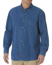 Dickies Stonewash Denim Work Shirt, , hi-res