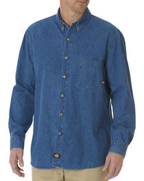 Dickies Stonewash Denim Work Shirt - Big & Tall, , hi-res