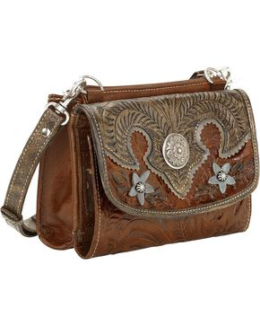 American West Women's Desert Wildflower Combination Clutch, Brown, hi-res
