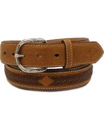 Nocona Men's Laced Overlay Conchos Belt , , hi-res