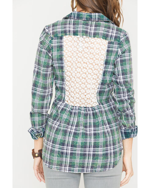 White Crow Zelda Plaid Shirt, Olive, hi-res