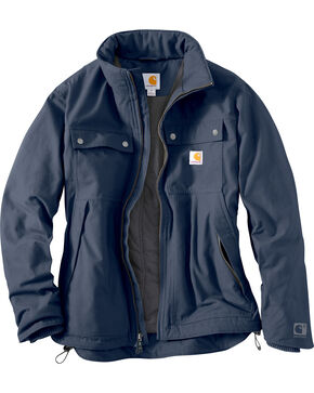 Carhartt Men's Jefferson Traditional Jacket, Navy, hi-res
